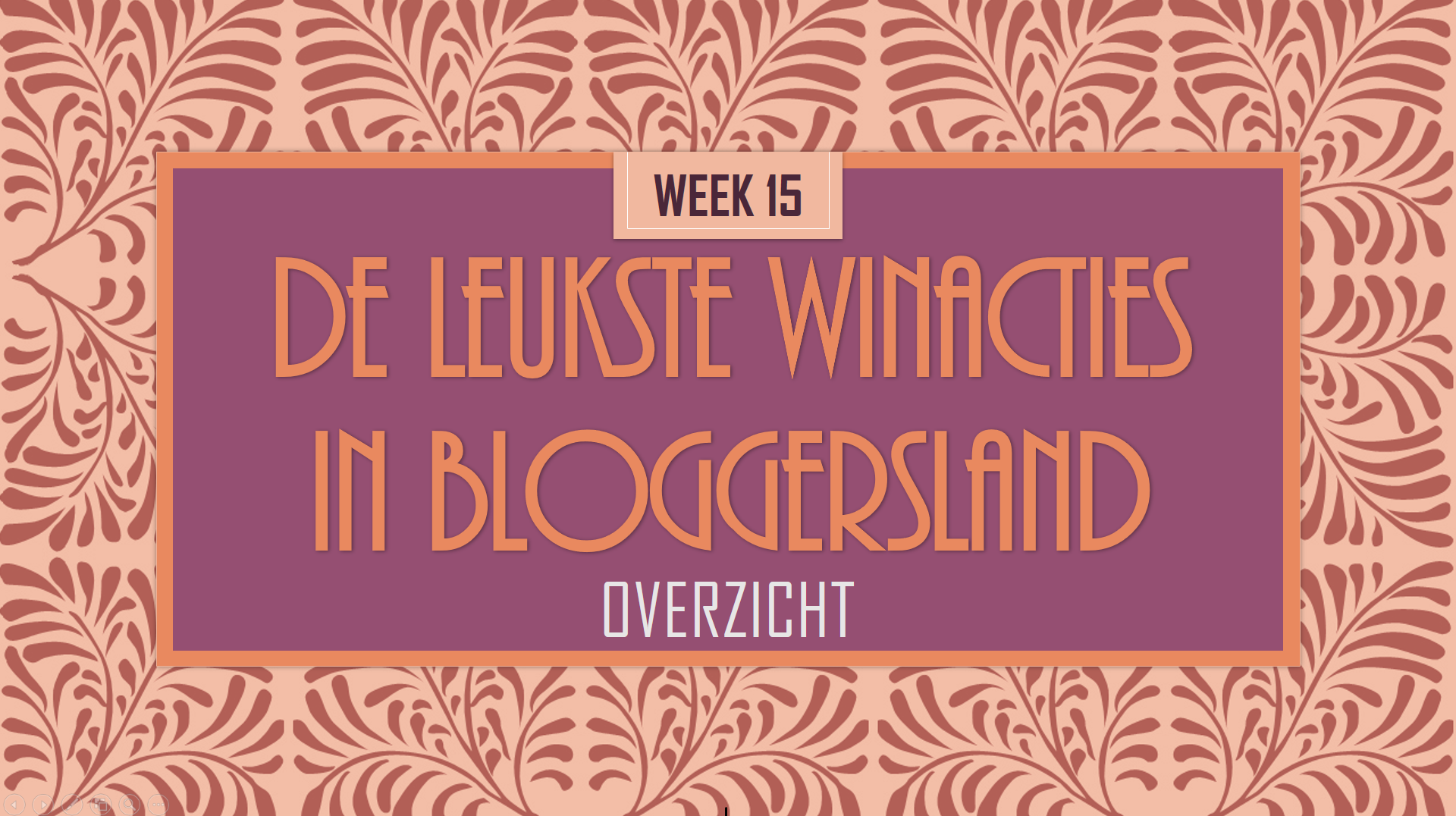 Blogger Winacties wk15