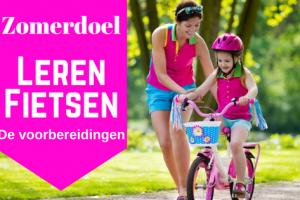 Zomerdoel - leren fietsen