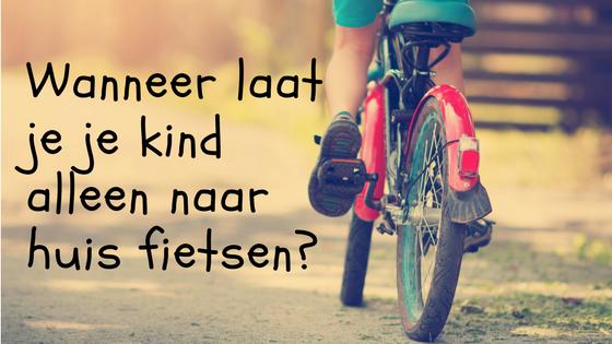 Wanneer laat je je kind alleen naar huis fietsen?