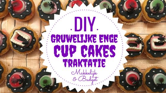 DIY Gruwelijk Enge Cupcake traktatie