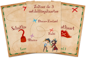 Reis van 5 - ontdekkingskaart