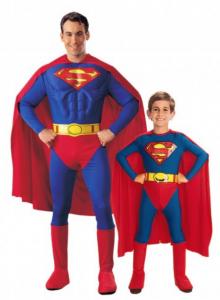 Carnaval Kostuum Vader Zoon Superman