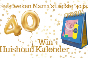 Feestweken Mama's liefste 40 jaar Huishoudkalender