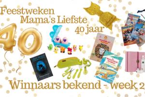 Feestweken Mama's liefste 40 jaar. Winnaars bekend week 2