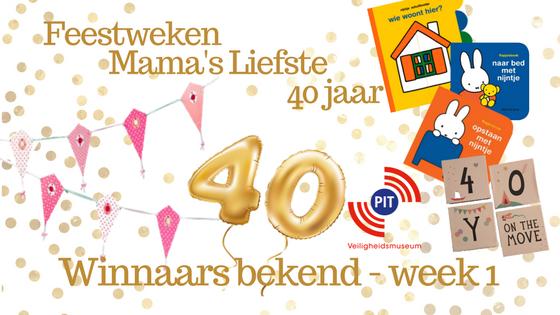 Feestweken Mama's liefste 40 jaar. Winnaars bekend