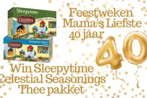 Feestweken Mama's liefste Sleepytime Celestial Seasonings pakket